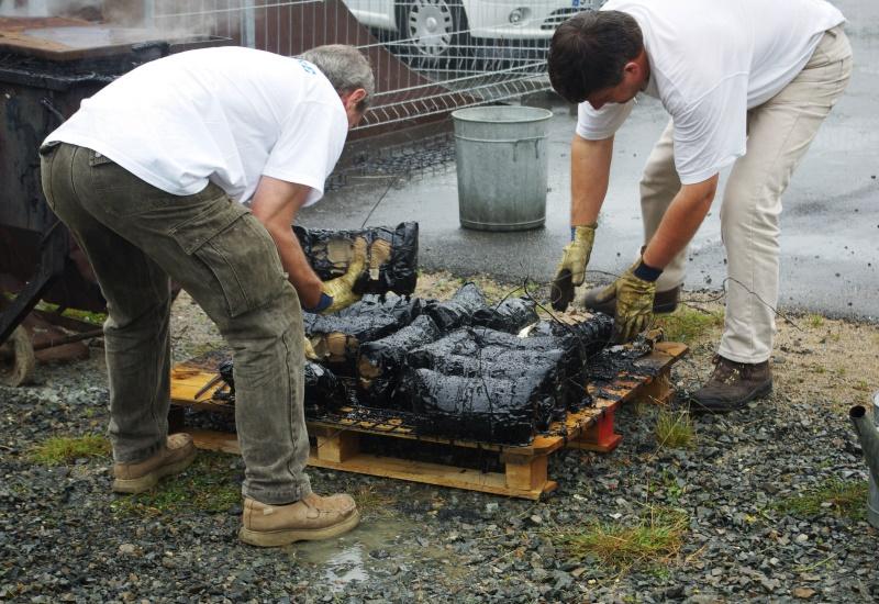 Tradition du gigot bitume sur les chantiers de Lorraine